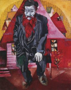 © MARC CHAGALL, VEGAP, MÁLAGA, 2016. - CHAGALL ® - JEW IN RED, 1915