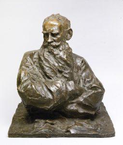 Pável Trubetskói. Lev toLstói. 1899. ©Museo Estatal Ruso de San Petersburgo -